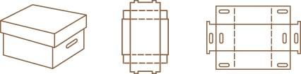 Caja tapa y fondo o caja de archivo
