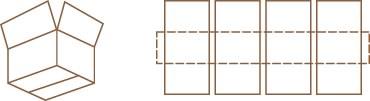 Caja de aletas simples